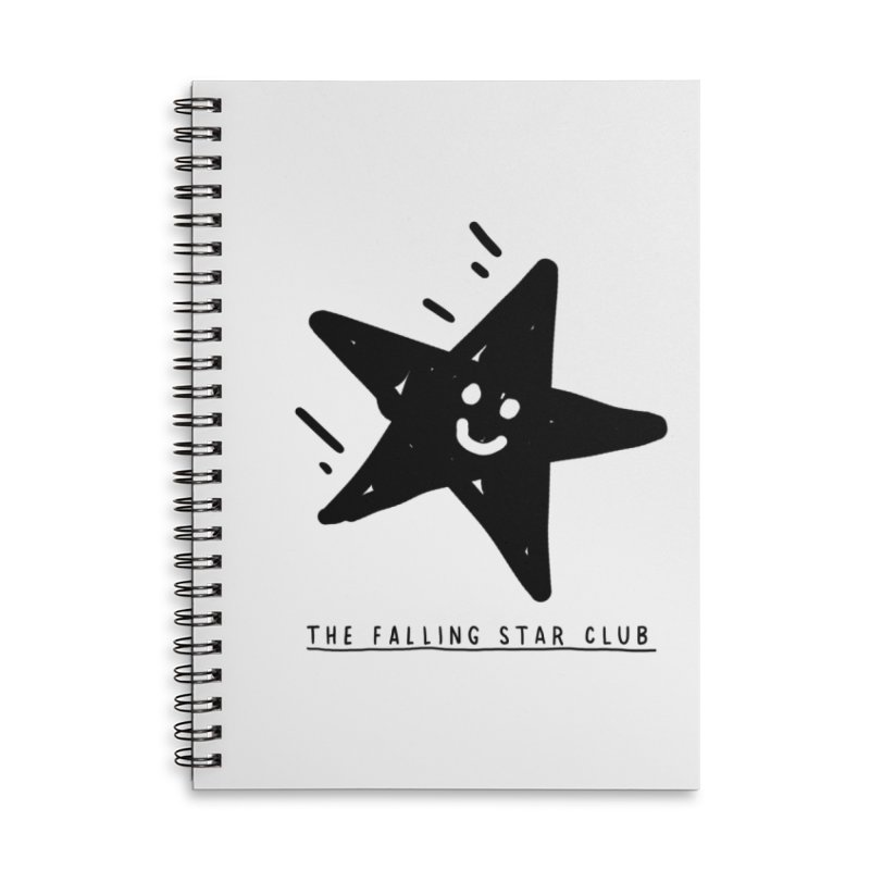 The Falling Star Club Accessories Lined Spiral Notebook by Shirt Folk