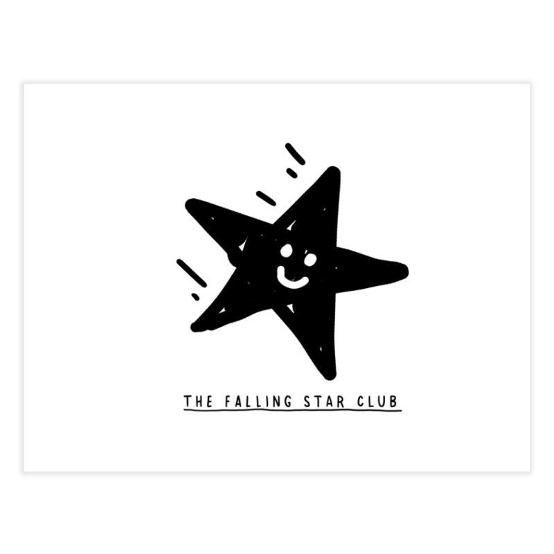 The Falling Star Club Home Fine Art Print by Shirt Folk