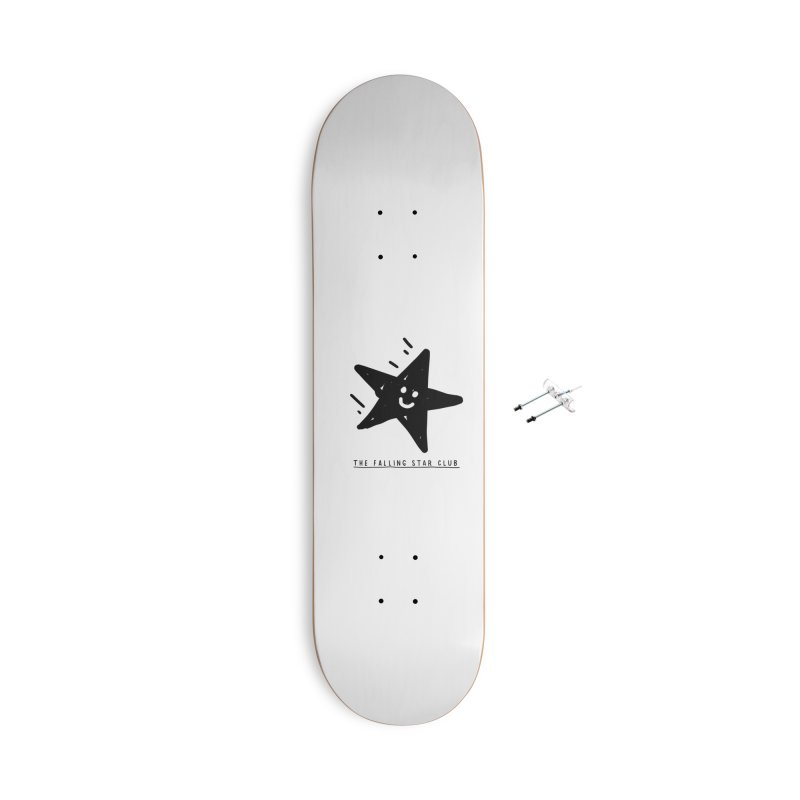 The Falling Star Club Accessories With Hanging Hardware Skateboard by Shirt Folk