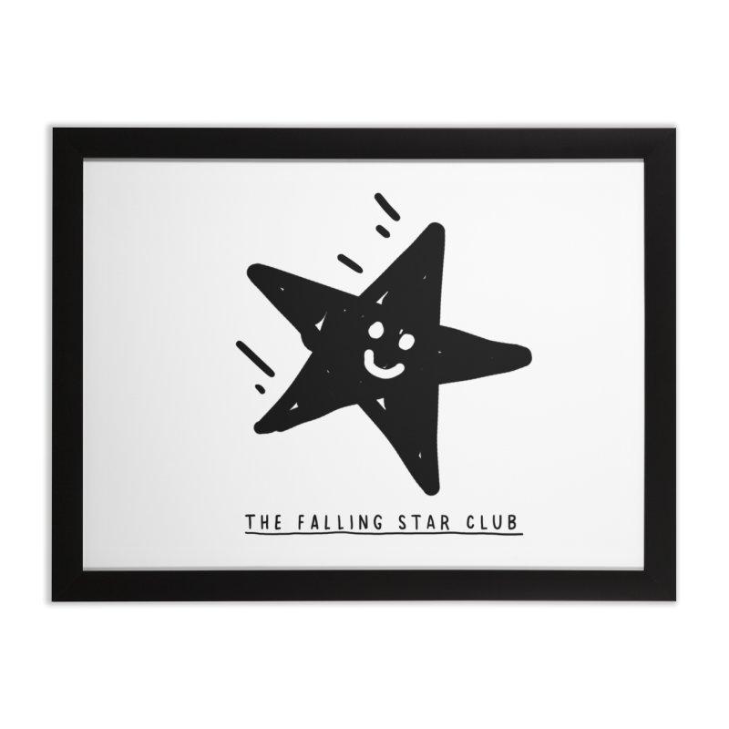 The Falling Star Club Home Framed Fine Art Print by Shirt Folk