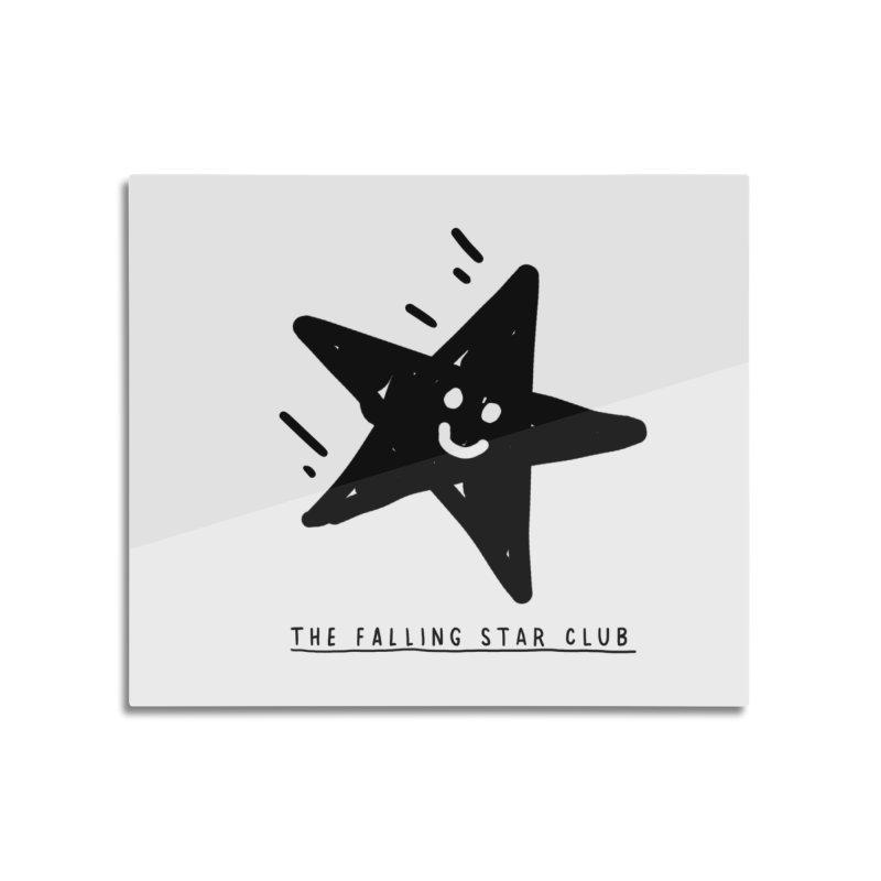 The Falling Star Club Home Mounted Aluminum Print by Shirt Folk
