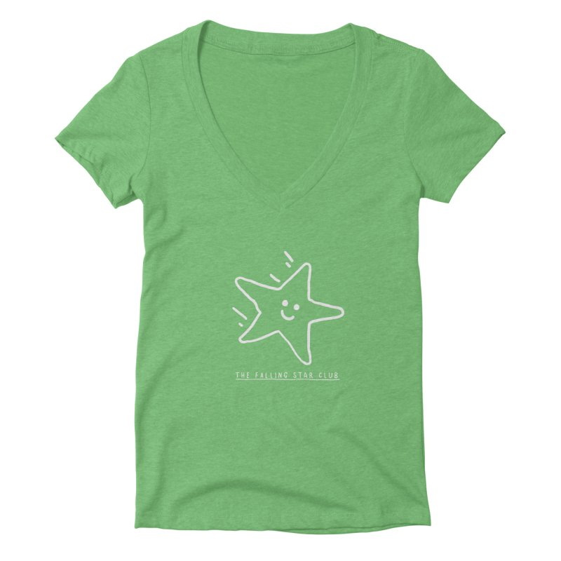 The Falling Star Club: Lights Out Edition Women's Deep V-Neck V-Neck by Shirt Folk