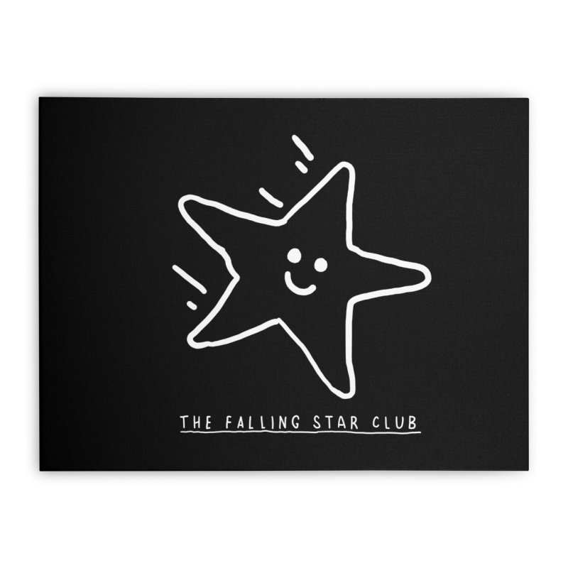 The Falling Star Club: Lights Out Edition Home Stretched Canvas by Shirt Folk