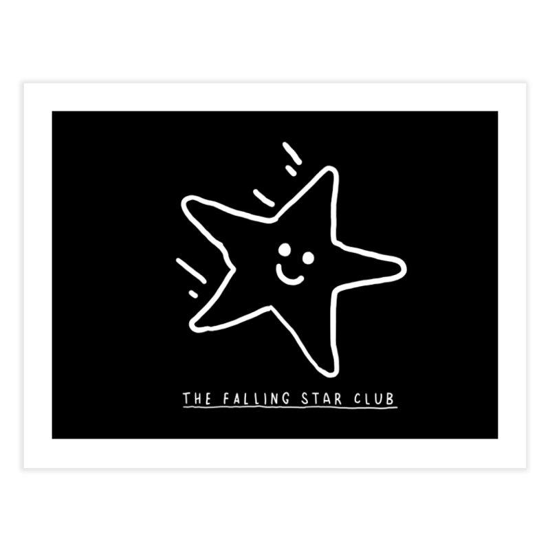 The Falling Star Club: Lights Out Edition Home Fine Art Print by Shirt Folk
