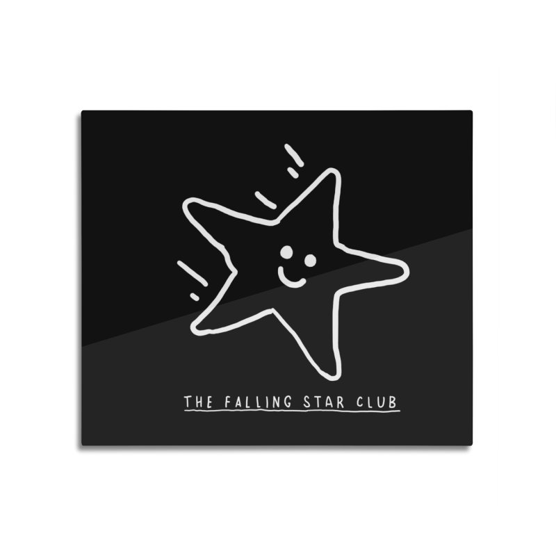 The Falling Star Club: Lights Out Edition Home Mounted Aluminum Print by Shirt Folk