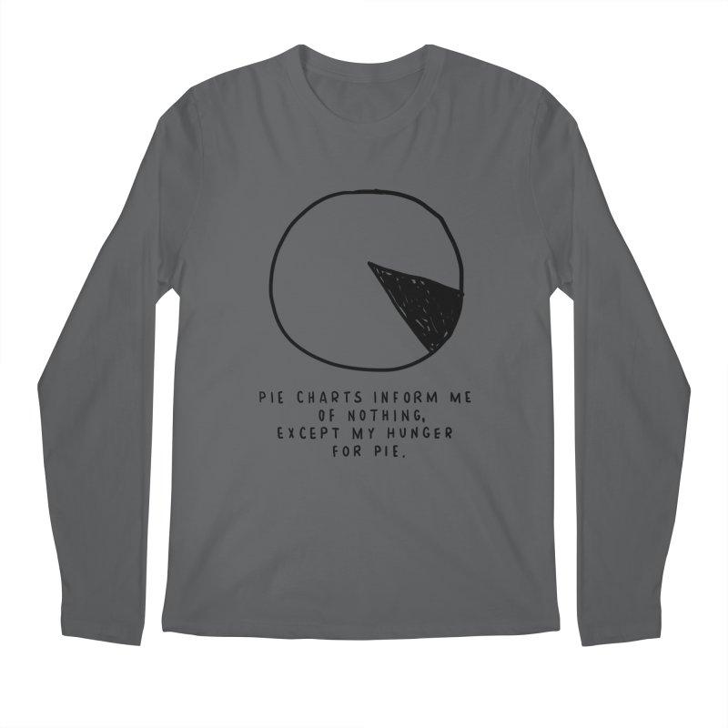 Pie Charts Men's Regular Longsleeve T-Shirt by Shirt Folk