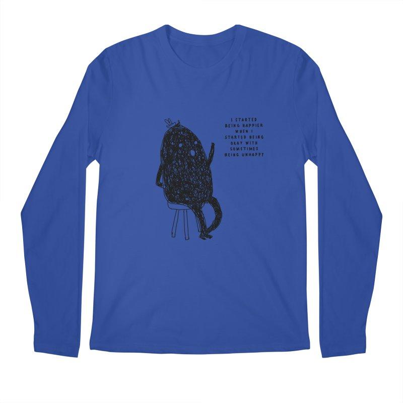Happier Men's Regular Longsleeve T-Shirt by Shirt Folk