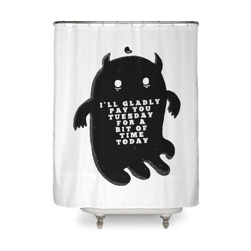 A Bit of Time Home Shower Curtain by Shirt Folk