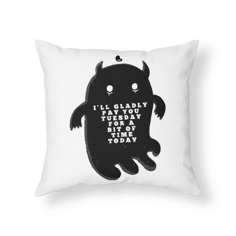 A Bit of Time Home Throw Pillow by Shirt Folk
