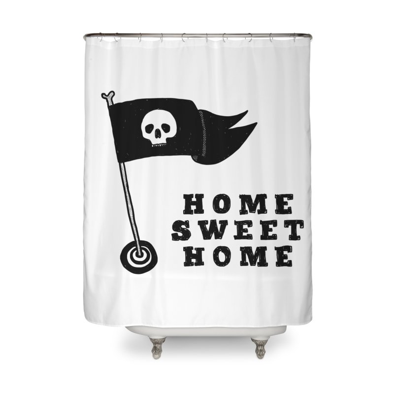 Home Sweet Home Home Shower Curtain by Shirt Folk
