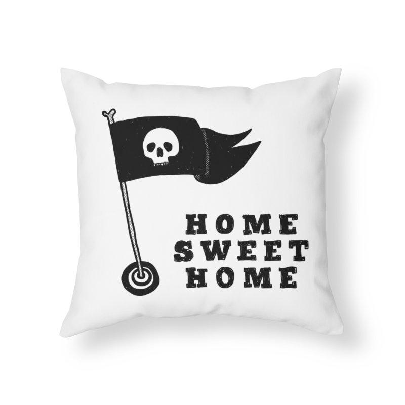 Home Sweet Home Home Throw Pillow by Shirt Folk