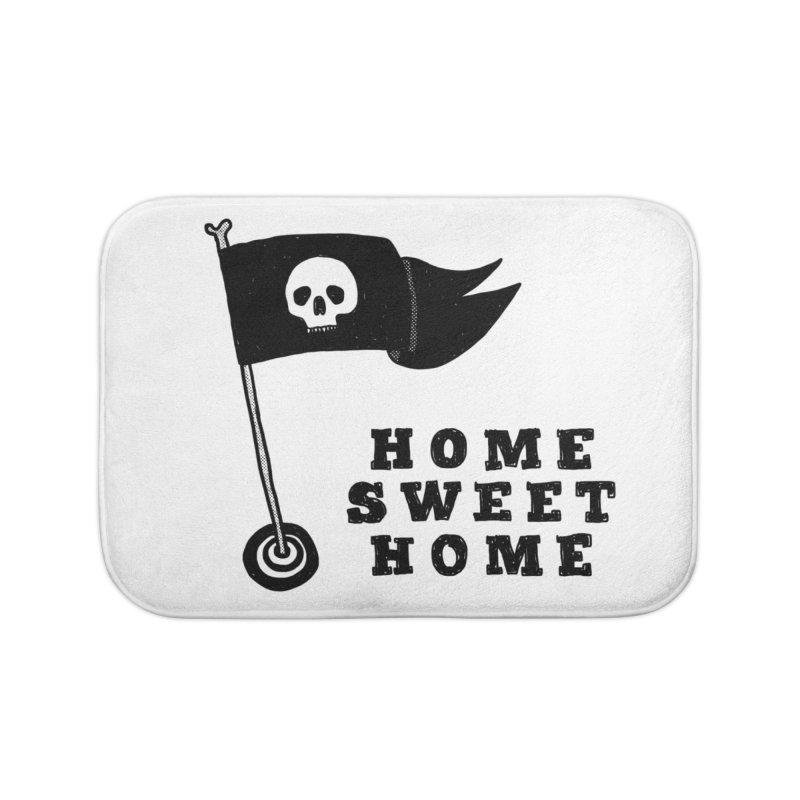 Home Sweet Home Home Bath Mat by Shirt Folk