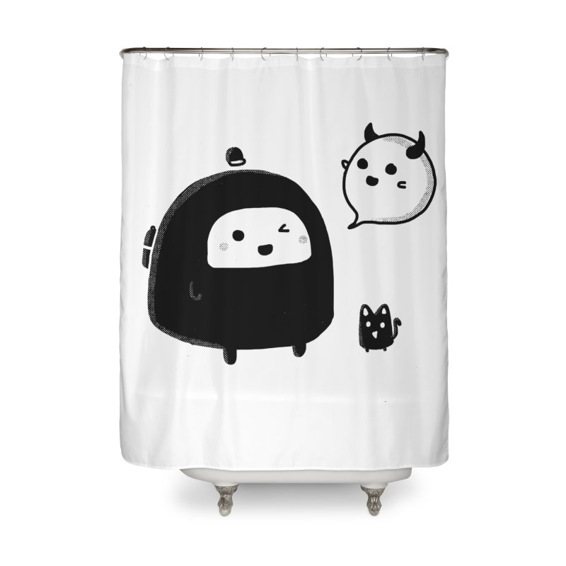 Evil Spirit? Home Shower Curtain by Shirt Folk