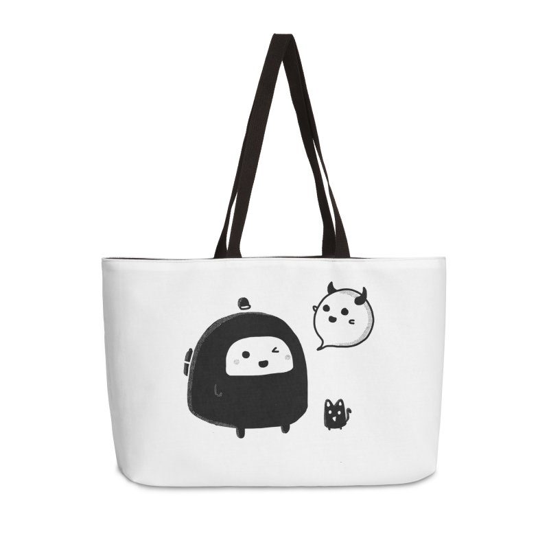 Evil Spirit? Accessories Weekender Bag Bag by Shirt Folk
