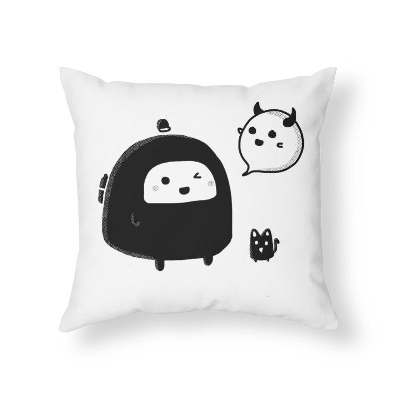 Evil Spirit? Home Throw Pillow by Shirt Folk