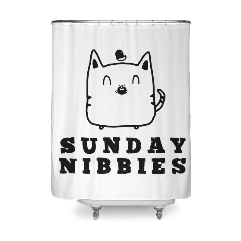 Sunday Nibbies Home Shower Curtain by Shirt Folk