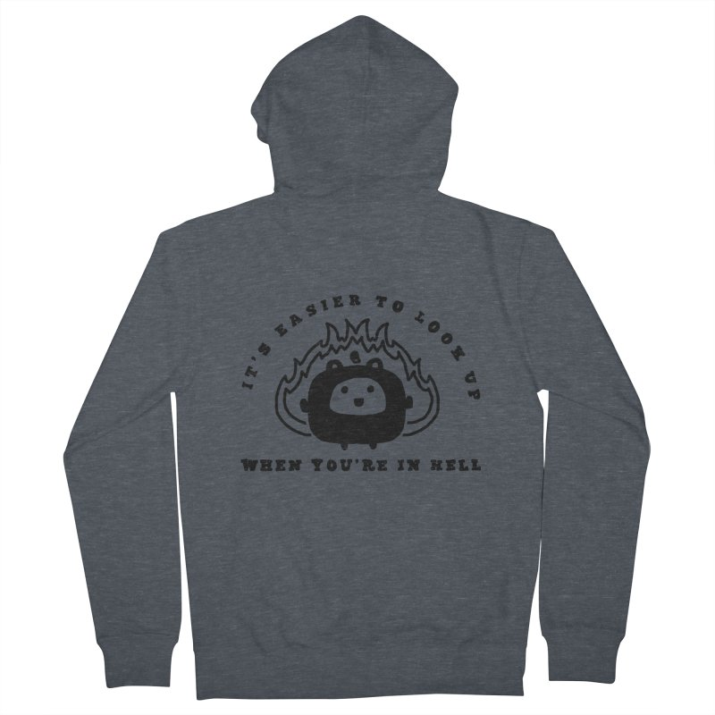 When in Hell Women's French Terry Zip-Up Hoody by Shirt Folk
