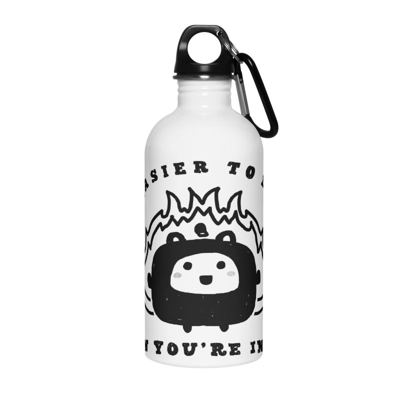 When in Hell Accessories Water Bottle by Shirt Folk