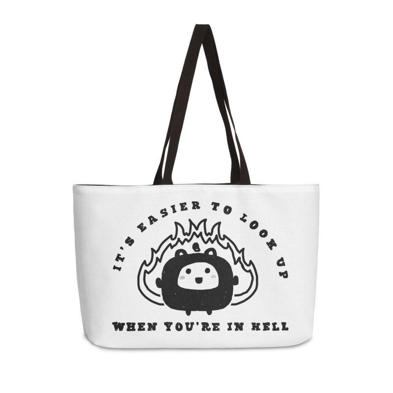 When in Hell Accessories Weekender Bag Bag by Shirt Folk