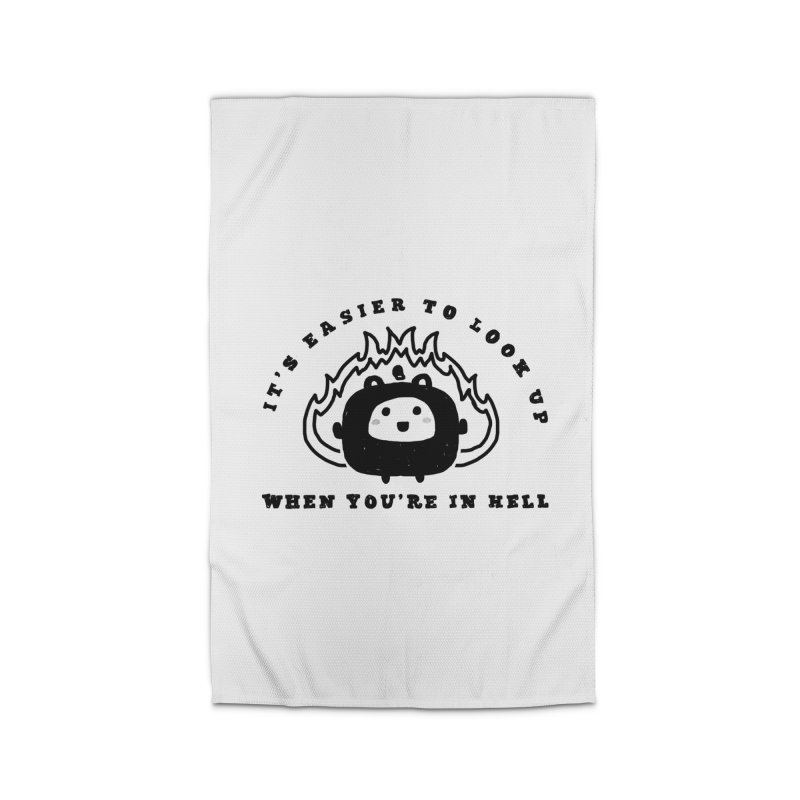 When in Hell Home Rug by Shirt Folk