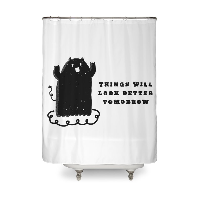 Tomorrow Home Shower Curtain by Shirt Folk
