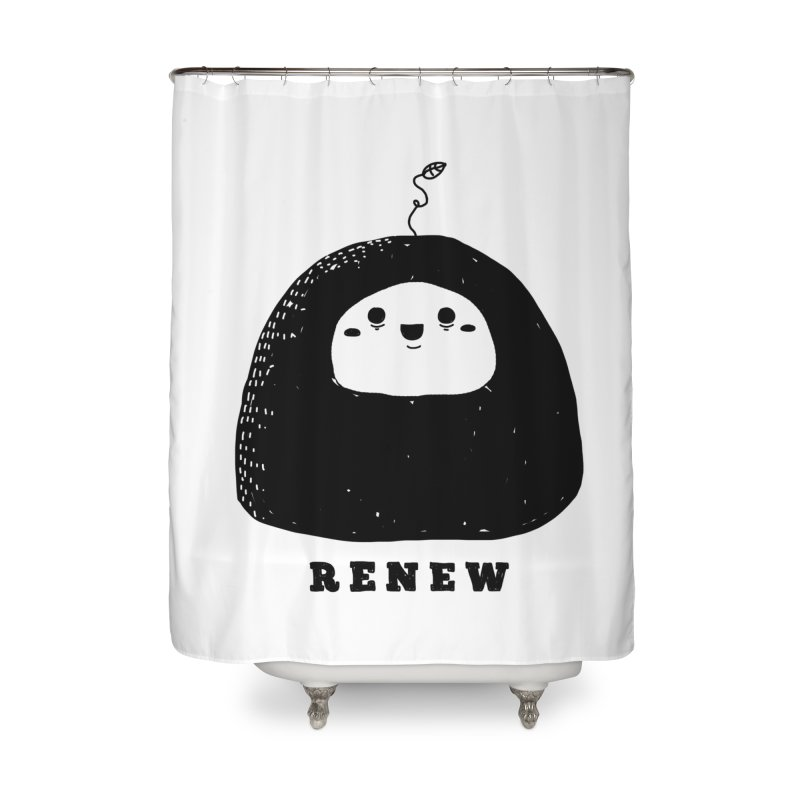 Renew Home Shower Curtain by Shirt Folk