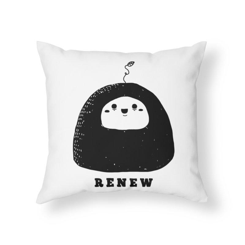 Renew Home Throw Pillow by Shirt Folk