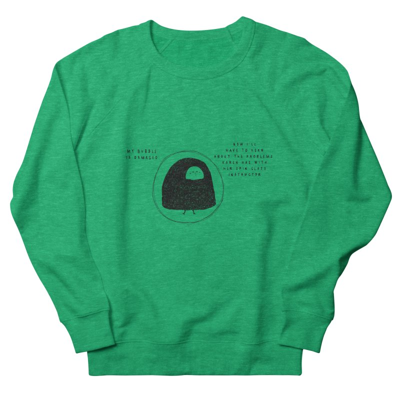 Bubble Women's French Terry Sweatshirt by Shirt Folk