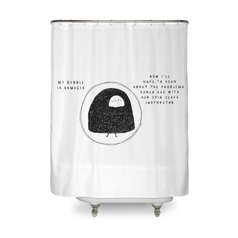 Bubble Home Shower Curtain by Shirt Folk