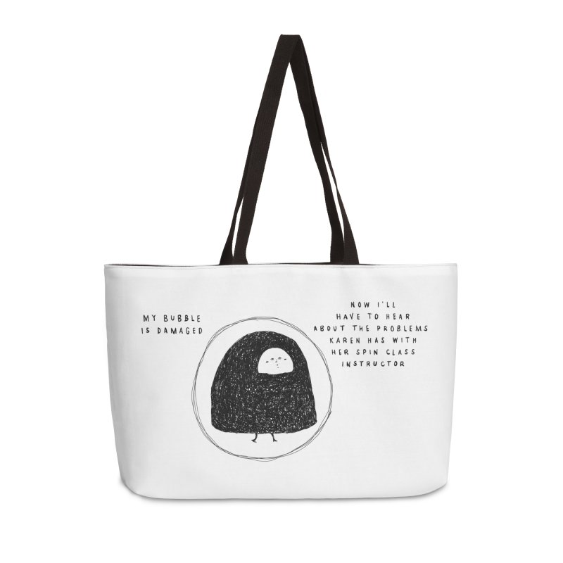Bubble Accessories Weekender Bag Bag by Shirt Folk
