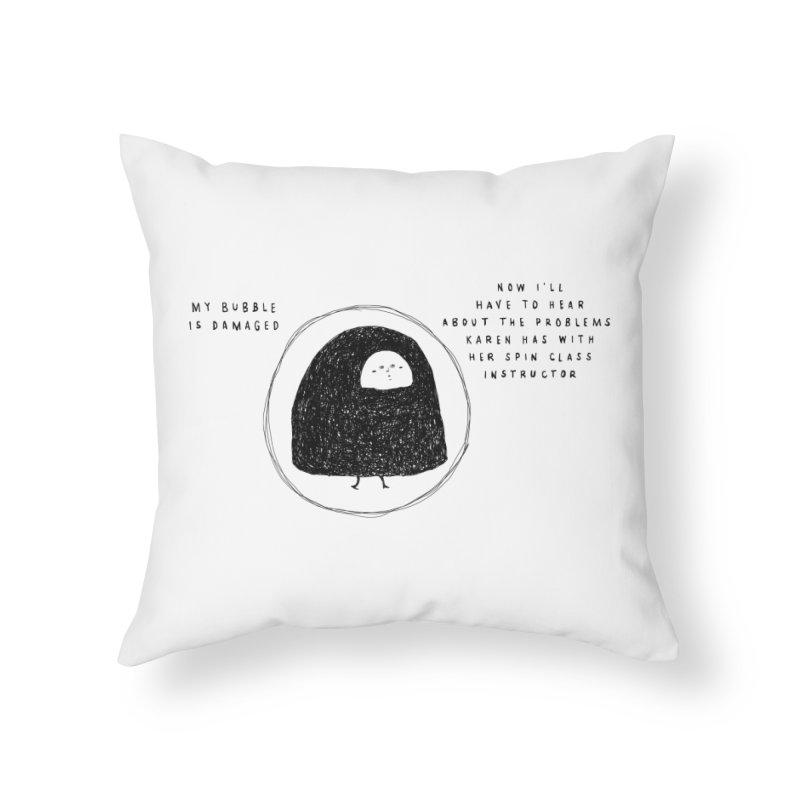 Bubble Home Throw Pillow by Shirt Folk