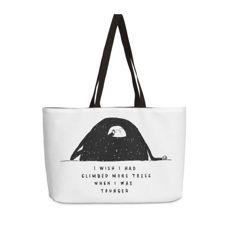 Climb Trees Accessories Weekender Bag Bag by Shirt Folk