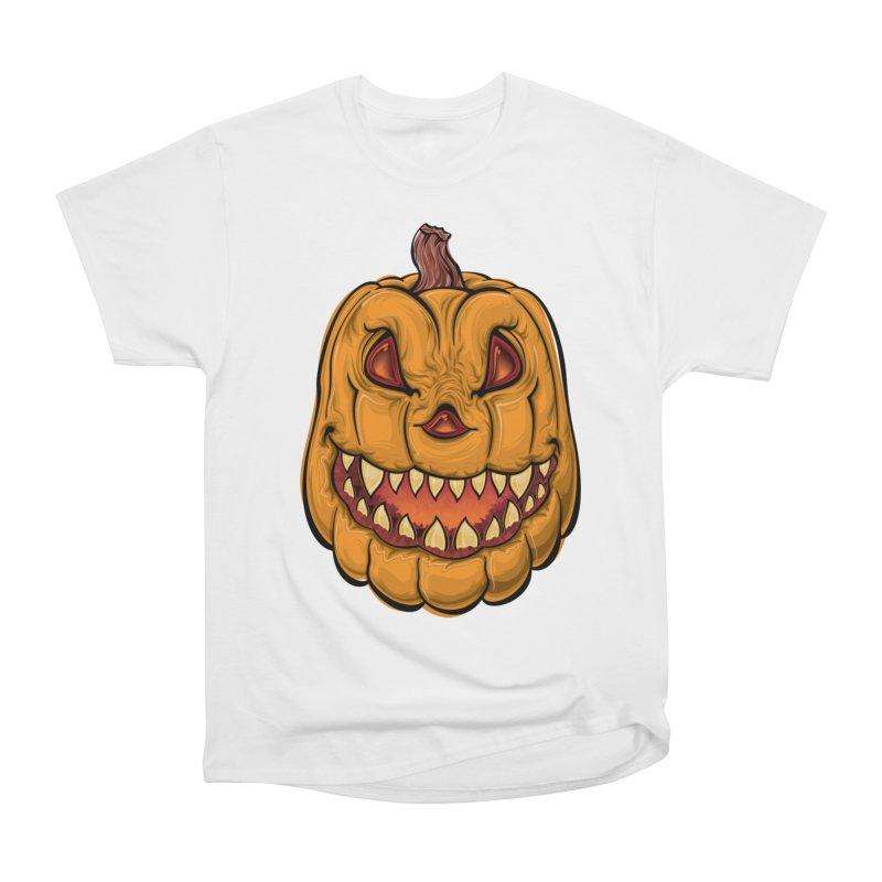 Halloween Pumpkin  Women's T-Shirt by Shirt For Brains
