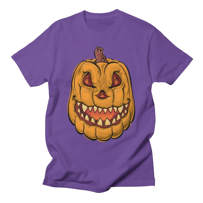 Halloween Pumpkin  Men's T-Shirt by Shirt For Brains