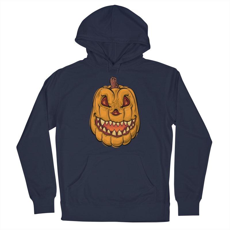 Halloween Pumpkin  Men's Pullover Hoody by Shirt For Brains
