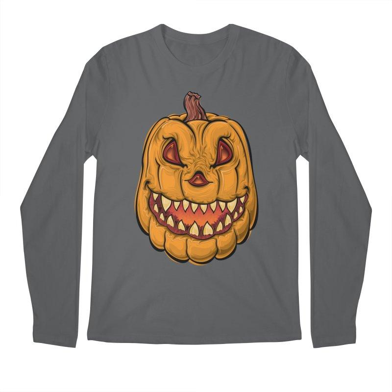 Halloween Pumpkin  Men's Longsleeve T-Shirt by Shirt For Brains