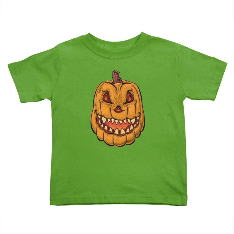 Halloween Pumpkin  Kids Toddler T-Shirt by Shirt For Brains