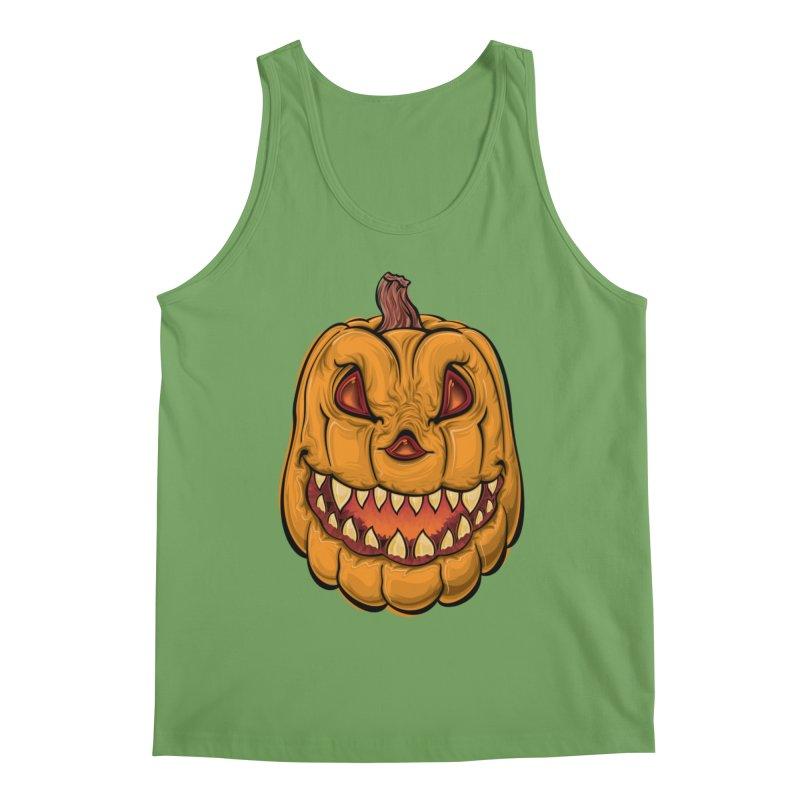 Halloween Pumpkin  Men's Tank by Shirt For Brains