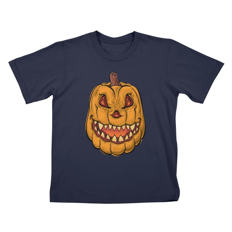 Halloween Pumpkin  Kids T-Shirt by Shirt For Brains