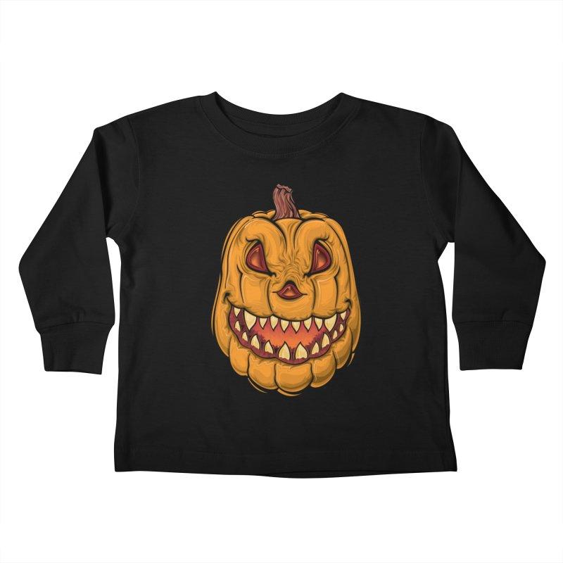Halloween Pumpkin  Kids Toddler Longsleeve T-Shirt by Shirt For Brains