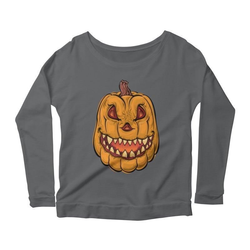 Halloween Pumpkin  Women's Longsleeve T-Shirt by Shirt For Brains