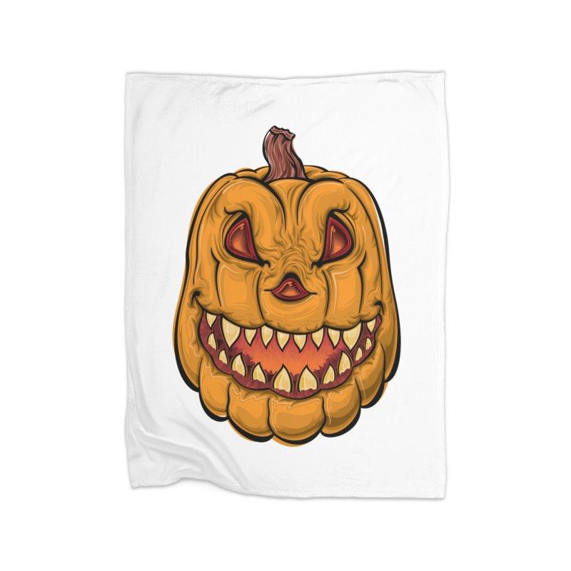 Halloween Pumpkin  Home Blanket by Shirt For Brains