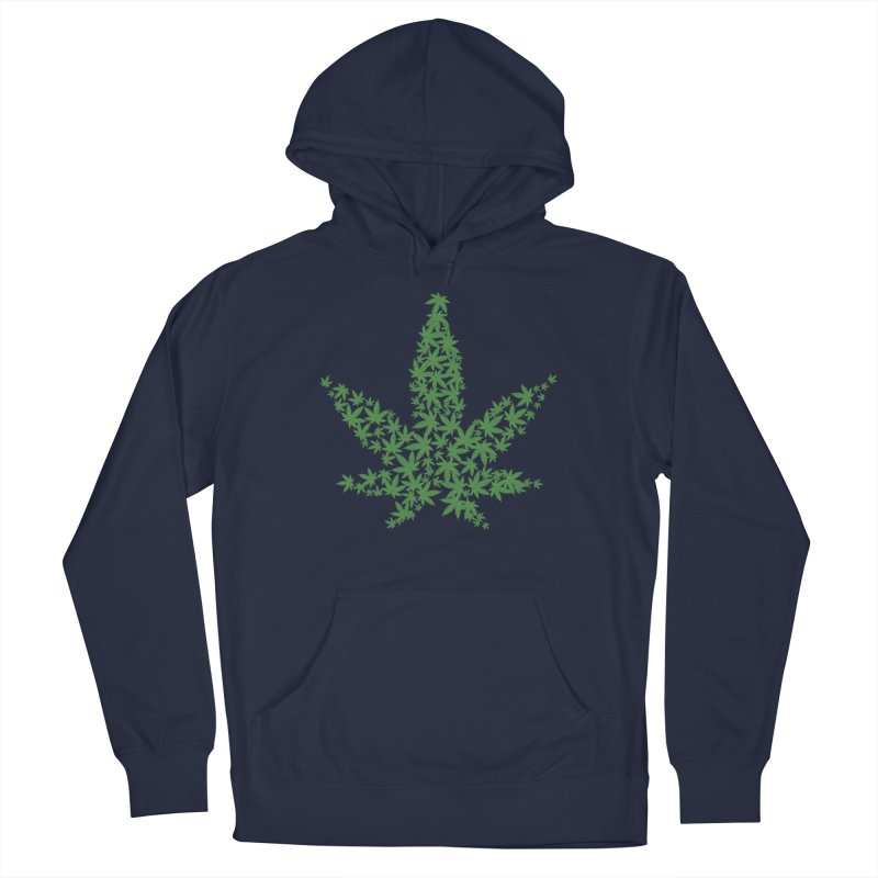 Pot Leaf Men's Pullover Hoody by Shirt For Brains