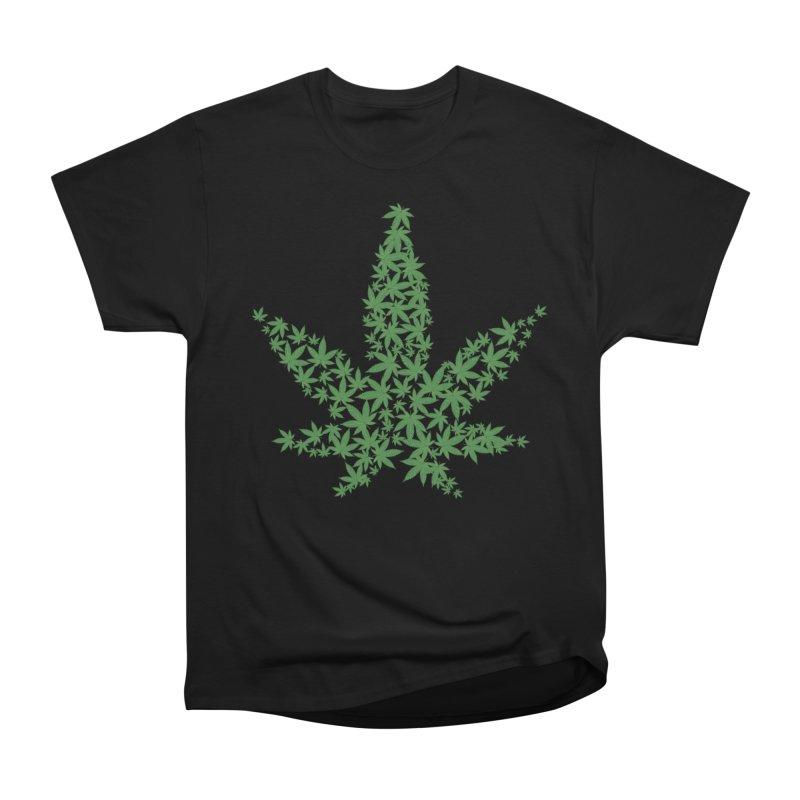 Pot Leaf Men's T-Shirt by Shirt For Brains