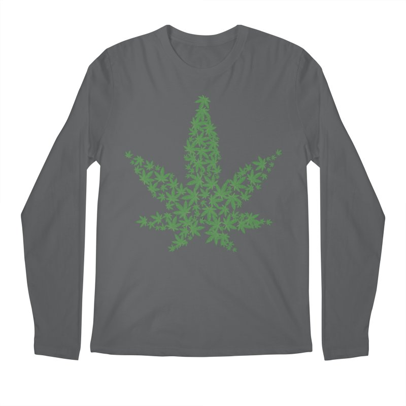 Pot Leaf Men's Longsleeve T-Shirt by Shirt For Brains