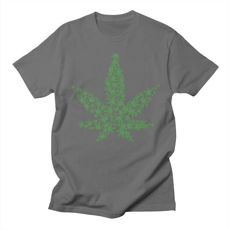 Pot Leaf Men's T-Shirt by Shirt For Brains