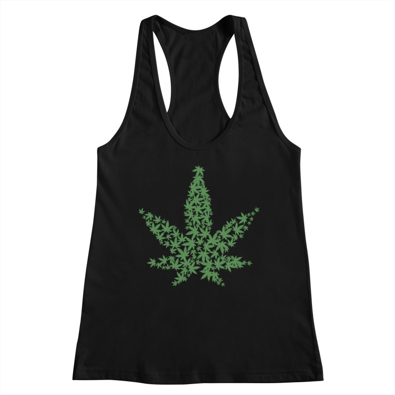 Pot Leaf Women's Tank by Shirt For Brains