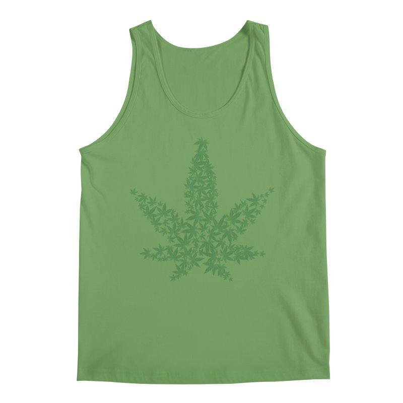 Pot Leaf Men's Tank by Shirt For Brains