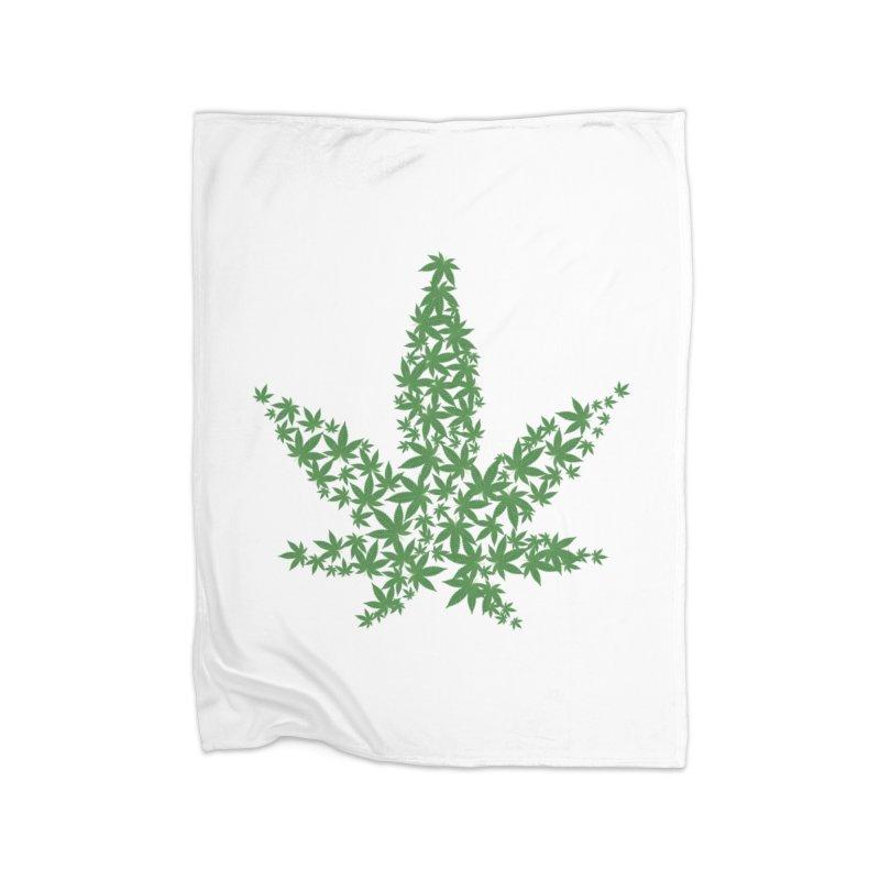 Pot Leaf Home Blanket by Shirt For Brains