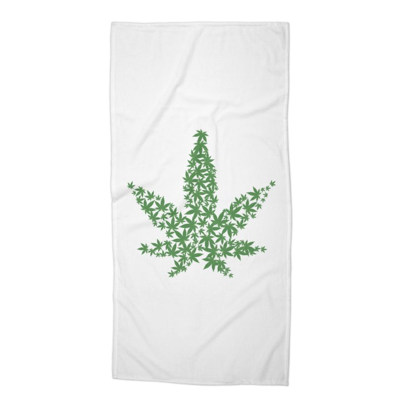 Pot Leaf Accessories Beach Towel by Shirt For Brains